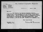 Letter from Gilbert H. Grosvenor to John Muir, 1900 Jun 1.