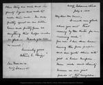 Letter from Octavine C. Briggs to John Muir, 1900 Jul 4.