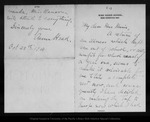 Letter from Anna Head to [Louie S. [Muir], 1900 Oct 29.