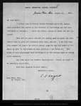 Letter from C[harles] S[prague] Sargent to John Muir, 1900 Aug 13.
