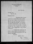 Letter from Ray S. Baker to John Muir, 1902 Apr 30.