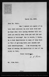 Letter from W[illiam] B[elmont] Parker to John Muir, 1902 Mar 18. by W[illiam] B[elmont] Parker
