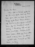 Letter from [Bailey] Millard to John Muir, 1902 May 9.