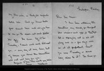 Letter from [Bailey] Millard to John Muir, [ca. 1902 ?] .