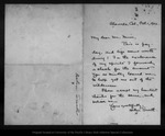 Letter from Helen Swett to John Muir, 1902 Oct 1. by Helen Swett