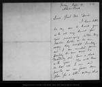 Letter from Melville B. Anderson to John Muir, [1902 ?] Sep 19. by Melville B. Anderson