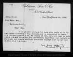 Letter from Winthrop S. Gilman to John Muir, 1903 Mar 20.