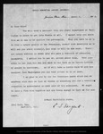 Letter from C[harles] S[prague] Sargent to John Muir, 1903 Apr 8.