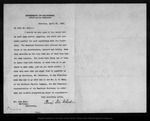 Letter from Benj[amin] Ide Wheeler to John Muir, 1903 Apr 25.