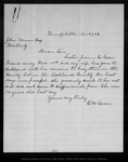 Letter from E. M. Carr to John Muir, 1903 Dec 18.