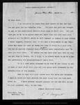 Letter from C[harles] S[prague] Sargent to John Muir, 1903 Mar 9.