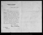 Letter from Benj[amin] I. Wheeler to John Muir, 1903 Mar 17.