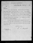 Letter from C[harles] S[prague] Sargent to John Muir, 1903 Apr 22.