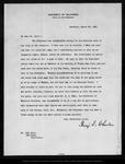 Letter from Benj[amin] I. Wheeler to John Muir, 1903 Mar 24.