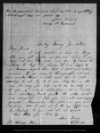 Letter from Harry A. Varnell to John Muir, 1863 Jan 25