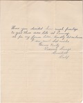 Letter from Francis George to John Muir, [ca. 1907]