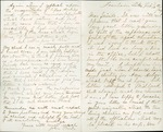 Letter from John Muir to Ambrose Newton, 1864 Feb 16