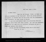 Letter from [Charles] Allen to John Muir, 1903 May 4