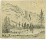 Sierra Nevada - A Portion of the North Wall of the Fifth Merced Yosemite Valley Situated on the Main Lyell Fork 6 Miles Below Mount Lyell