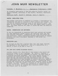 John Muir Newsletter, January/February 1981 by Holt-Atherton Pacific Center for Western Studies