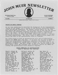 John Muir Newsletter, October 1981