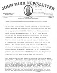 John Muir Newsletter, November 1981 by Holt-Atherton Pacific Center for Western Studies