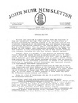 John Muir Newsletter, March 1982 Special Edition