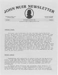 John Muir Newsletter, November/December 1982 by Holt-Atherton Pacific Center for Western Studies