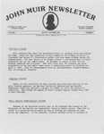 John Muir Newsletter, August/October 1984 by Holt-Atherton Pacific Center for Western Studies