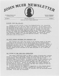John Muir Newsletter, January/March 1985 by Holt-Atherton Pacific Center for Western Studies