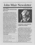 John Muir Newsletter, Winter 1990/1991 by John Muir Center for Regional Studies