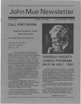 John Muir Newsletter, Summer 1991 by John Muir Center for Regional Studies