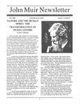 John Muir Newsletter, Fall 1992 by John Muir Center for Regional Studies