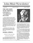 John Muir Newsletter, Winter 1993