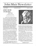 John Muir Newsletter, Winter 1993/1994 by John Muir Center for Regional Studies