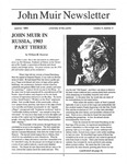 John Muir Newsletter, Summer 1994 by John Muir Center for Regional Studies