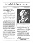 John Muir Newsletter, Winter 1994/1995