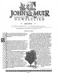 The John Muir Newsletter, Fall 1996 by The John Muir Center for Regional Studies