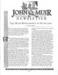 The John Muir Newsletter, Fall 1998 by The John Muir Center for Regional Studies