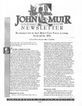 The John Muir Newsletter, Summer 2000
