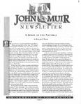 The John Muir Newsletter, Fall 2000 by The John Muir Center for Regional Studies