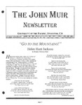 The John Muir Newsletter, Winter 2002/2003 by The John Muir Center for Environmental Studies