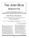 The John Muir Newsletter, Spring 2003