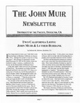 The John Muir Newsletter, Winter 2006/2007 by The John Muir Center for Environmental Studies