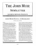 The John Muir Newsletter, Fall 2007