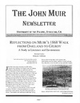 The John Muir Newsletter, Spring 2008 by The John Muir Center for Environmental Studies