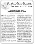 The John Muir Newsletter, Spring 2015