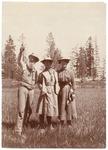 John Muir with Helen and Wanda Muir, probably Kings Canyon, California