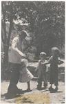 John Muir grandchildren Richard, John, and Strentzel Hanna, Martinez, California