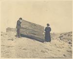 John Muir and unidentified woman at Petrified Forest, Arizona